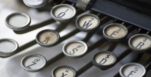 Typewriter image. Credit and Copyright R.J.C. Watt